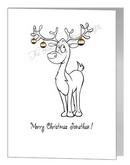 reindeer with baubles - bear xmas