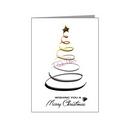 swirl christmas tree - bear xmas