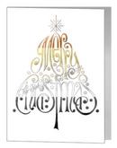 merry christmas wording tree - bear xmas