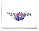 merry kissmas card - bisexual xmas