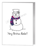 snowman in scarf - bisexual xmas