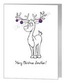 reindeer with baubles - bisexual xmas