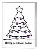 christmas baubles tree - bisexual xmas