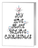 joy love christmas wording tree - transgender xmas