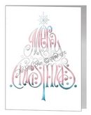 merry christmas wording tree card - transgender xmas