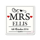 Personalised Mrs & Mrs Coaster Set of 2