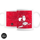 Personalised Purple Ronnie Christmas Male Santa Mug