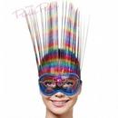 rainbow venetian party mask
