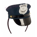 blue police hat headband