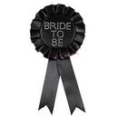 black bride to be diamante rosette