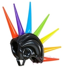 inflatable rainbow spikes helmet