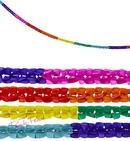 set of 2 rainbow garlands (3 metres)