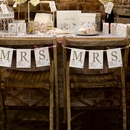 Shabby Chic Chair Bunting - Mrs & Mrs