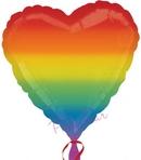 rainbow heart balloon 18
