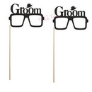 glasses photo props - grooms