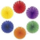rainbow paper fans (6)