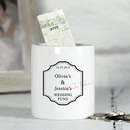 personalised ceramic classic wedding money box