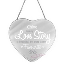 personalised I love you heart mirror