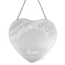 personalised oh so pretty... heart mirror
