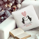 christmas penguins personalised cushion cover