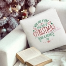 wish you a merry christmas personalised cushion cover