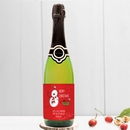 personalised christmas cava - cartoon snowman