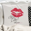 personalised kiss me cushion cover