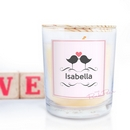 personalised scented candle - love birds