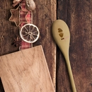 personalised festive hipster wooden spoon