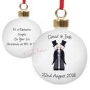 personalised wedding bauble - mr & mr