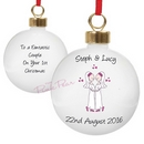 personalised wedding bauble - mrs & mrs