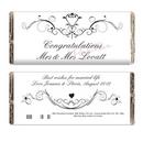 personalised ornate swirl milk chocolate bar - mrs & mrs