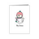 cute snowperson in hat & scarf - transgender xmas