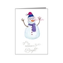funky snowman in hat & scarf - bisexual xmas card