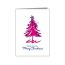 pink sketched tree - bisexual xmas