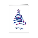 blue sketched tree - bisexual xmas