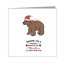 grizzly in santa hat - bear xmas