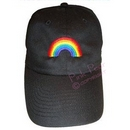 cap with rainbow motif