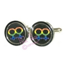 rainbow symbol cufflinks - female