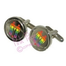 rainbow figure cufflinks - male