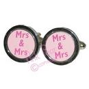 mrs & mrs cufflinks - pink