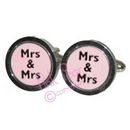 mrs & mrs cufflinks - black
