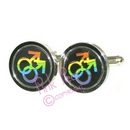 rainbow symbol cufflinks - male
