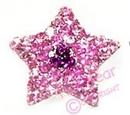 doggie crystal star - pink