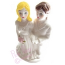 brides cake topper - lesbian couple (white outfits)