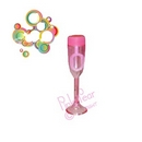 pink champagne glass bubbles