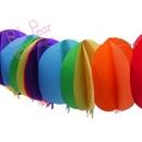 garland - rainbow balloons